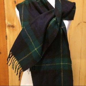 Watch Plaid Vintage Cashmere Wool Scarf