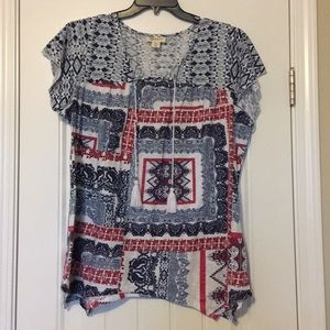 Style & Co Printed T-shirt 2X