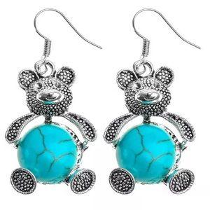 Jewelry - 🆕 (W26) Turquoise Bear Earrings