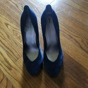 BCBGeneration Navy Blue Seude Pumps