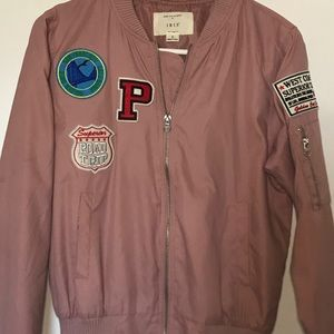 Pink Patch Bomber Jacket