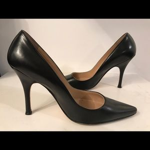 Manolo Blahnik Bb Pumps leather heel 5.5 w/ box