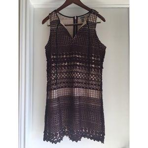 Dress: Purple Overlay