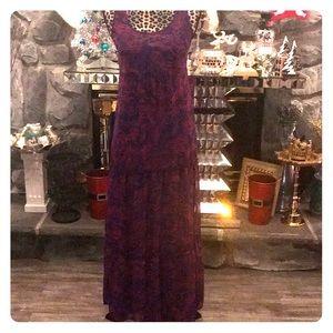 Purple/Indigo maxi dress