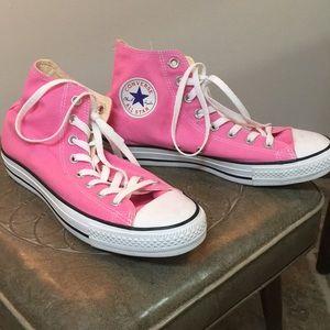 High top pink converse
