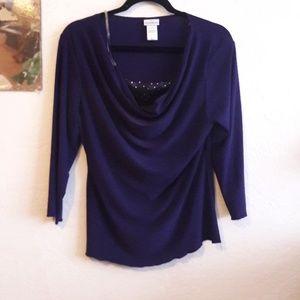 Purple Jaclyn Smith blouse
