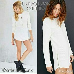 Urban Outfitters Unix F Waffle Tunic Sweater