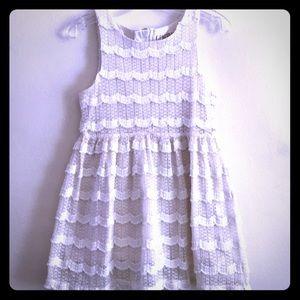 Genuine Kids by OshKosh Cream Ruffle Lace Dress
