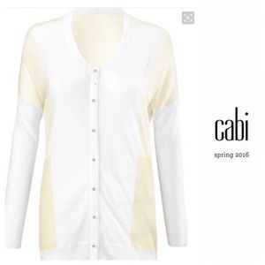 Cabi White Sheer Cardigan Size Small Style 5009