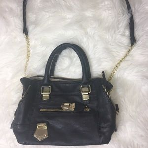 Steve Madden black gold chain purse