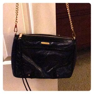 Rebecca Minkoff navy leather bag