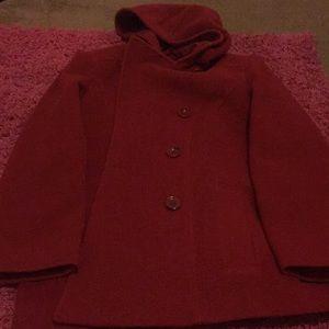 Anne klein red winter jacket