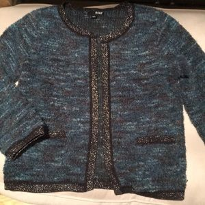 a.n.a Teal & Gray Cardigan