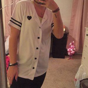 Baseball style jersey