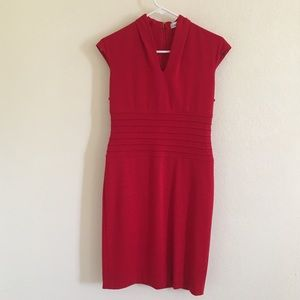 GUC Calvin Klein red stretch knit dress