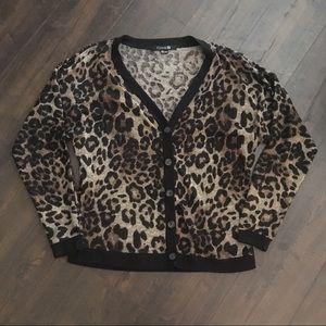 Cheetah print Cardigan!🐯