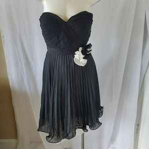New Max and Cleo Black and White Strapless Dress