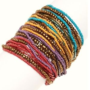 Jewelry - Boho Beaded Multi-Strand Bracelet