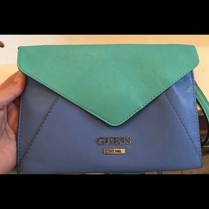 Guess leather color block dual pockets mini