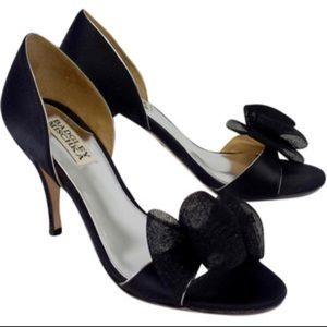 Badgley Mischka Black Satin Xango Shoes