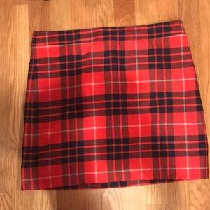 Plaid J Crew skirt mini skirt size 4