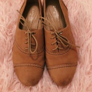 Naturalizer Tan Suede Leather Oxford Size US 7.5