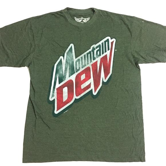 b1ae5cc87 Savvy Shirts   Xlt Mountain Dew T Shirt Heather Green Vtg   Poshmark