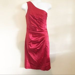 Calvin Klein red satin dress