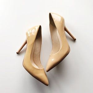 Boutique 9 Sally Classic Pointy Toe Nude Pumps