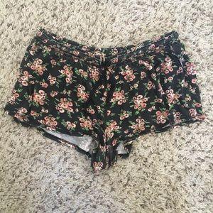 Floral PJ pajama shorts