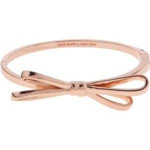 NEW! Kate Spade New Bow Bangle Bracelet Rose Gold