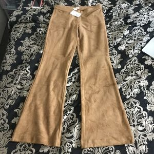 NWT Suede high waisted flare