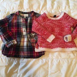 Holiday shirts!  Gap and OshKosh. Size 3.