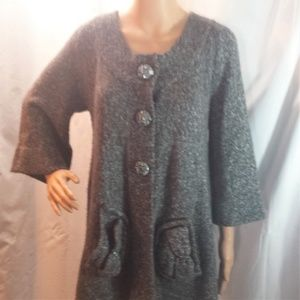 Gray BCBGMaxAzria Hooded Cardigan