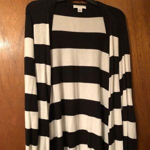 Stripe Button Down Cardigan