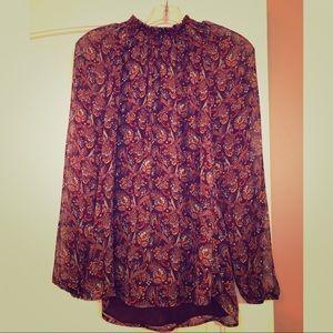Daniel Rainn Beautiful full-length sleeve blouse M