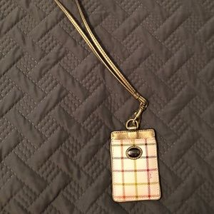 Authentic Coach Tattersall ID holder/lanyard