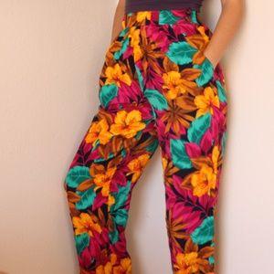 Vintage Floral Trousers