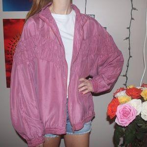 vintage 90's pink windbreaker