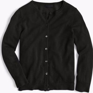 J.Crew Collection Italian Cashmere Cardigan Black
