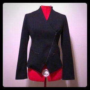 Black zip up blazer