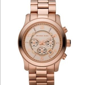 Michael Kors Oversized Chronograph Rose Gold Watch