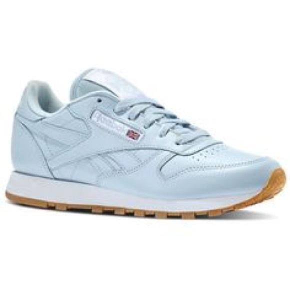 Light blue Reebok Classic Sneakers. M 5a1368428f0fc4c7d4005398 ab01352ae