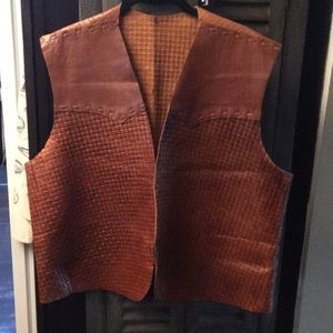 Other - Leather Weave Vest