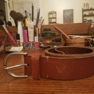 Women's American eagle leather belt