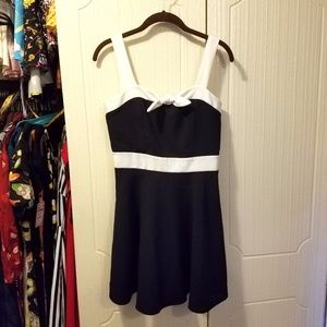 Modcloth Sailor style Navy Pinup Skater Dress M