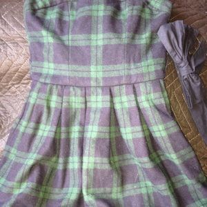 Abercrombie & Fitch Plaid Dress w/removable belt