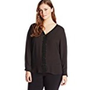 NY Collection Women's Plus-Size Womens Long Sleeve