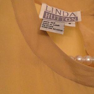 c22c273df69964 Linda Hutton Tops - Linda Hutton Mustard Silk Top