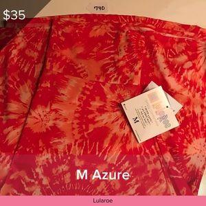 NWT Lularoe Azure Small Slinky Tie Dyed Red White